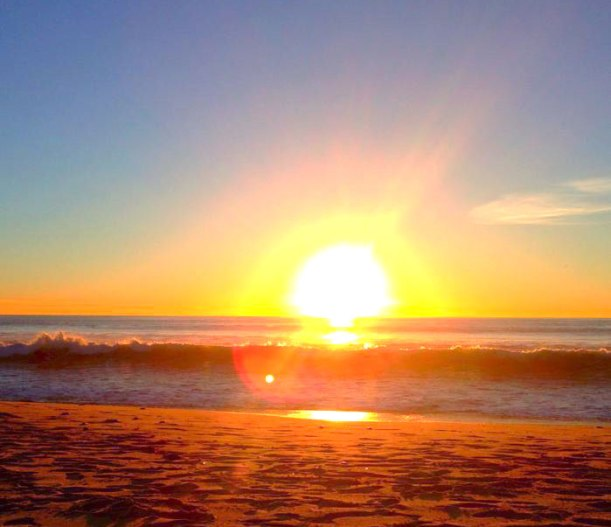 The afternoon sunset at my favorite sand-covered spot, Carlsbad Beach.