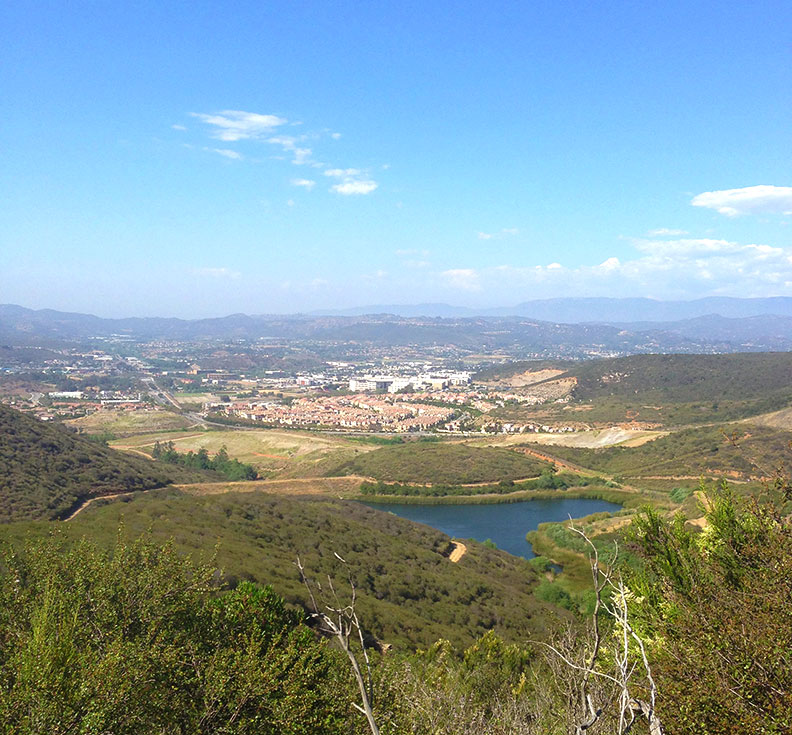 Views of Lake San Marcos from the top of Double Peak, just ten minutes from my house.